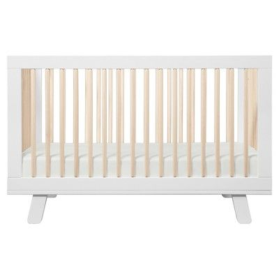 Babyletto Hudson 3 In 1 Convertible Crib White Washed Natural