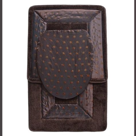 $14.95 BROWN 3 Piece Embroidered Bathroom Rug/mat Set. Bath Rug/mat, Contour Rug/mat, Toilet Seat Lid Cover  From BAM-TasticDeals   Get it here: http://astore.amazon.com/ffiilliipp-20/detail/B005P8I2H0/183-4573073-8199113