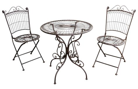 cremet Metalltisch Metallstuhl Bistrotisch Metall Gartenmöbel weiß