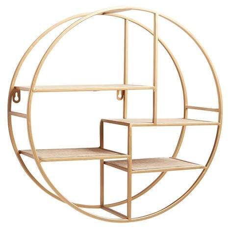 Pier 1 Imports Golden Round Assymetrical Wall Shelf Sponsored Ad Paid Thank You Pier 1 Imports For Sponsoring Today S Pos Wall Shelves Gold Shelves Shelves