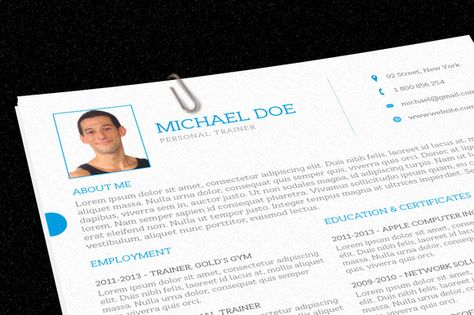 Personal Trainer Resume by@Graphicsauthor Resume CV Templates - resume personal trainer