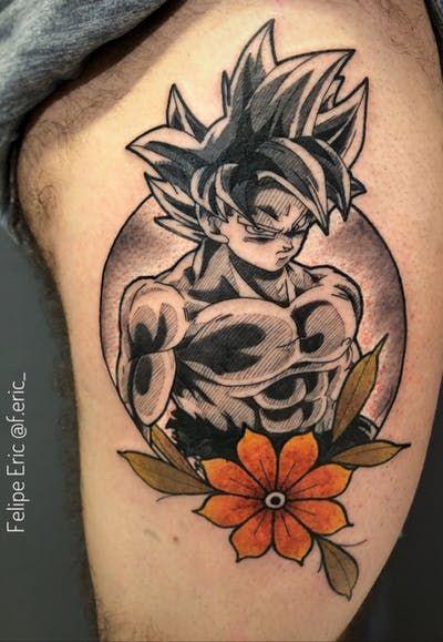 Goku Tattoo Gokutattoo Gokutattooidea Tattoos Dragon Ball Tattoo Z Tattoo