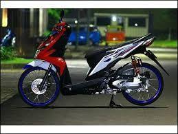 Modifikasi Motor Beat Pop Warna Merah Putih Motor Warna Merah