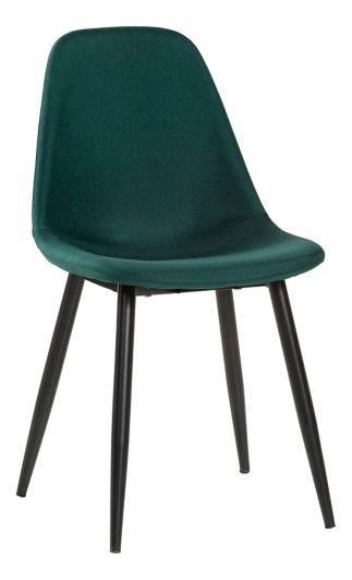chaise lynette 2 verte pied noir