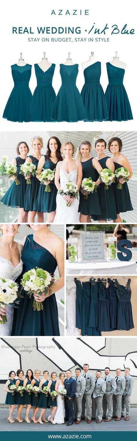Ink Blue Bridesmaid Dresses | Azazie