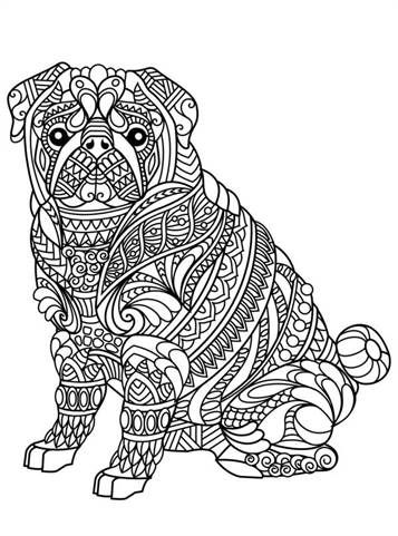 Kids N Fun Com 26 Coloring Pages Of Animals For Teens And Adults Dog Coloring Page Puppy Coloring Pages Dog Coloring Book
