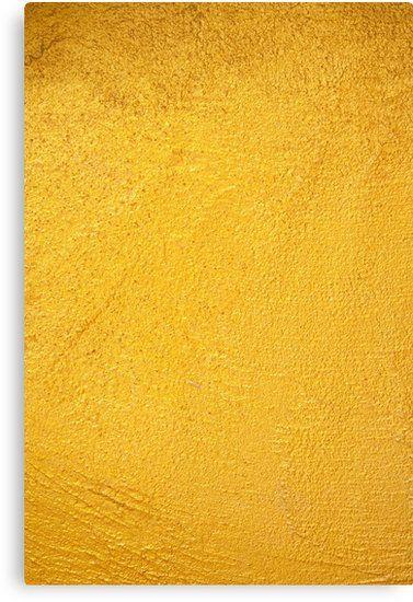 Solid Liquid Gold Canvas Print