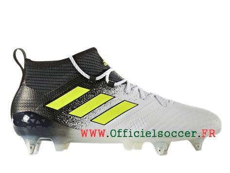 temperament shoes offer discounts running shoes Adidas ACE 17.1 Terrain Crampons de Football Homme Blanc ...