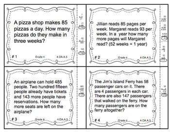 Multistep math problems are challenging! Help your students practice with these awesome task cards! $