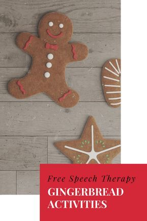 Free Speech Therapy Gingerbread Man Activities Language Skills