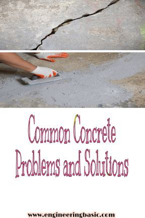 Common Concrete Problems And Solutions Engineering Basic Problem And Solution Concrete Concrete Curing