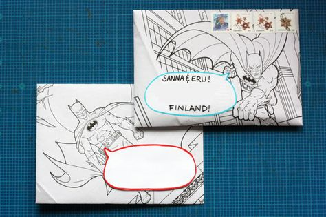 Brinner - The Blog: Coloring Book Snail Mail Tutorial