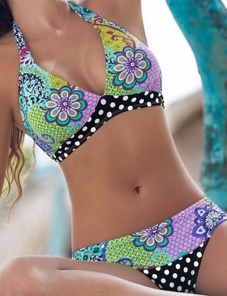 Support Type: Wire FreePattern Type: Floral, PrintMaterial: Nylon, SpandexWith Pad: Yes SKU:2939062