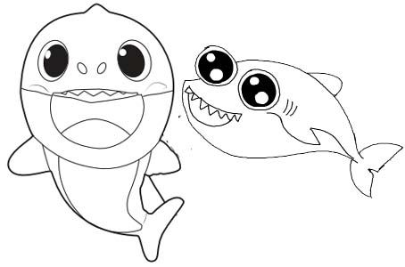Simple Two Baby Shark Coloring Page En 2020 Avec Images