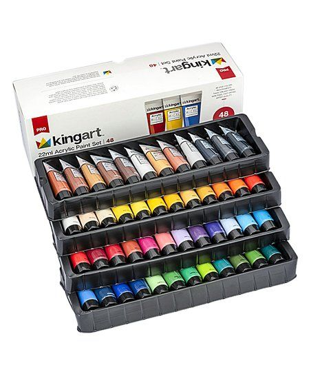 Kingart 48 Pc Acrylic Paint Set Zulily Paint Set Acrylic