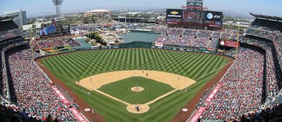 If you're trying to see every major league baseball stadium in Ameria, you've got to see the Anaheim Angels Stadium in Southern California.