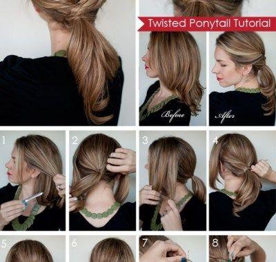 Ponytail Hairstyles Medium Length Hair Rambut Panjang Tutorial Rambut Ide Gaya Rambut