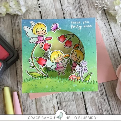 Photo of Fairy Garden Pop up card with Grace