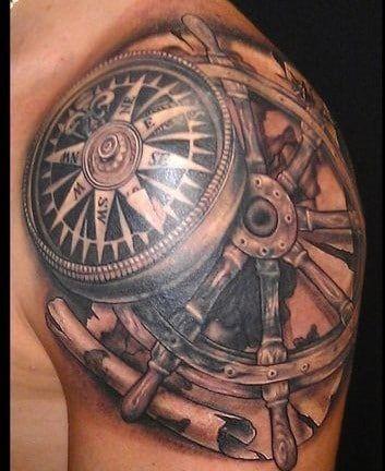Dimensionales Tatuajes De Brujulas En El Hombro Tatuajes Molones