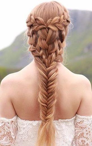 Cute Fishtail Braid On Long Red Hair Braided Hairstyles Box Braids Hairstyles Hair Styles