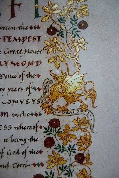 Best. Dragon. Ever. From Andrew Jamieson. http://www.jamiesongallery.com/illuminatedmanuscripts.html