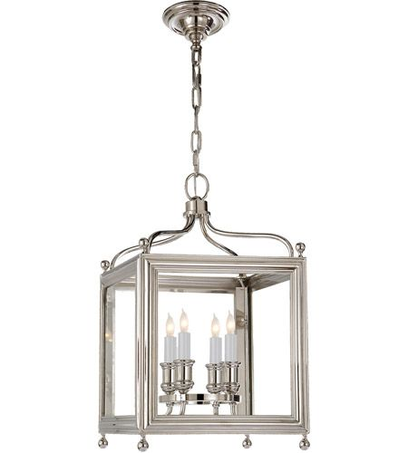 J Randall Powers Greggory 4 Light 12 Inch Polished Nickel Foyer Pendant Ceiling Light Small Lanterns Ceiling Pendant Lights Visual Comfort Lighting