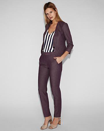 Black Ankle Pant Suit