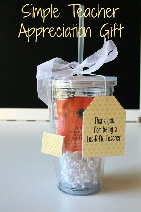 Easy and Affordable Teacher Appreciation Gift. Thank you for being a Tea-Rific Teacher Double Walled Cup with free printable tag. I made this for Nico's teachers during Teacher Appreciation week.