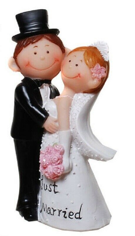 Dekofigur Hochzeit Figur Brautpaar Tortenfigur Geldgeschenk