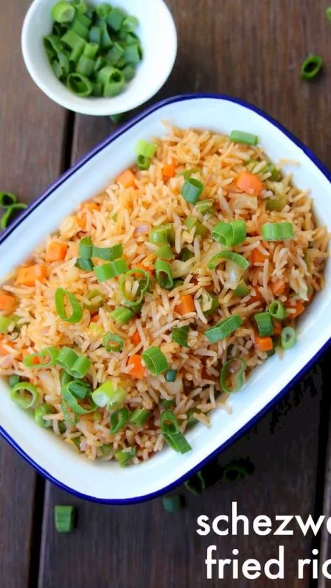 schezwan fried rice recipe | szechuan fried rice | how to make schezwan fried rice with detailed photo and video recipe. a popular indo chinese dish made by stir-frying the rice with choice of vegetables and schezwan sauce. it is an extension to the fried rice recipe which does not have an extra ingredient of schezwan chutney. it is popularly served with manchurian sauce and ideal for lunch or dinner.
