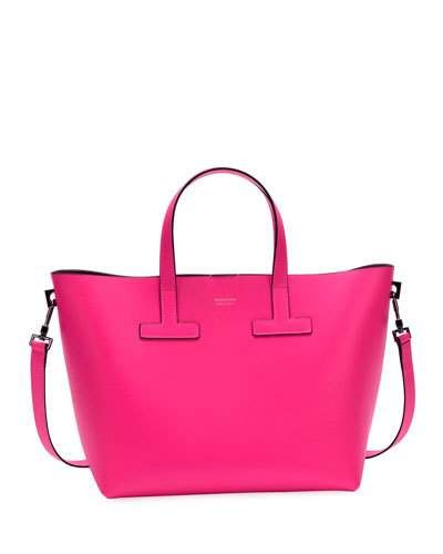 T Tote Mini Saffiano Leather Bag In Hot Pink With Images Bags