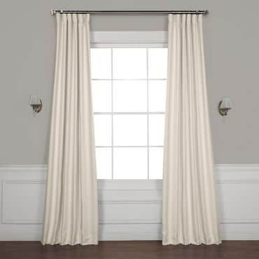 Birch Faux Linen Blackout Room Darkening Curtain Linen Blackout
