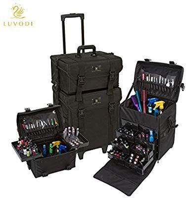 Luvodi 2 En 1 Valise Maquillage Professionnel Beaty Case Trolley Avec 8 T Maquillage Professionnel Valise Maquillage Professionnel Kit Maquillage Professionnel