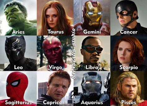 Marvel Heroes as Zodiac Signs (Part 1/2) by Haexbralis-studio