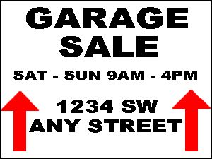 photo relating to Printable Yard Sale Signs called Totally free Garage Sale Indicators