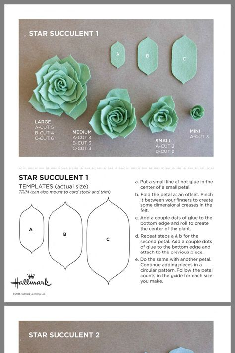 , Best Picture For Diy Felt Flowers videos For Your Taste You are looking for something, and it is g Paper Succulents, Paper Flowers Diy, Flower Crafts, Fabric Flowers, Felt Flower Wreaths, Felt Diy, Felt Crafts, Fabric Crafts, Paper Crafts