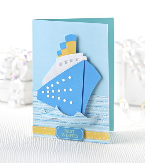 Free dowload ship-shape card #craft