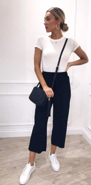20 Casual Black and White Outfits