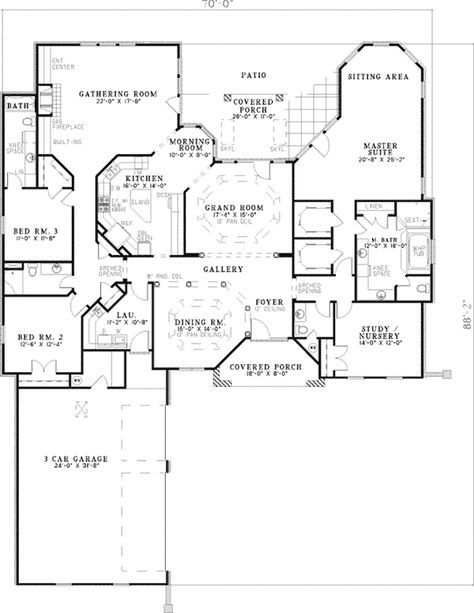 The Dasilva Traditional Home has 4 bedrooms, 3 full baths and 1 half bath. See amenities for Plan 055D-0129.