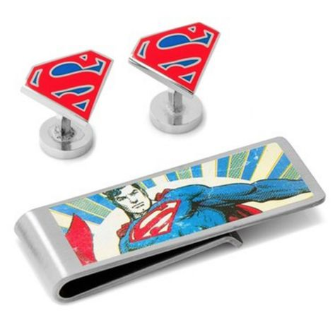 Men's Cufflinks, Inc. 'Superman' Cuff Links & Money Clip Set