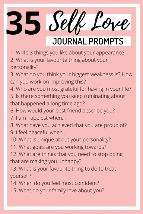Journal questions to answer for self love