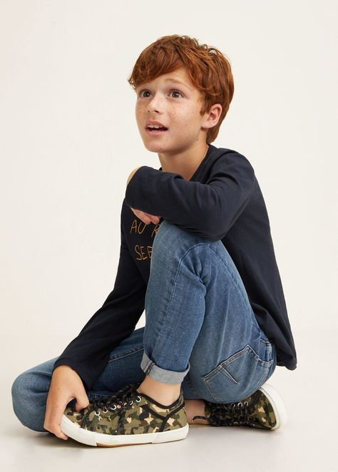 Mango Straight-Fit Cotton Jeans - Boys | Kids 13-14 Years (164Cm)