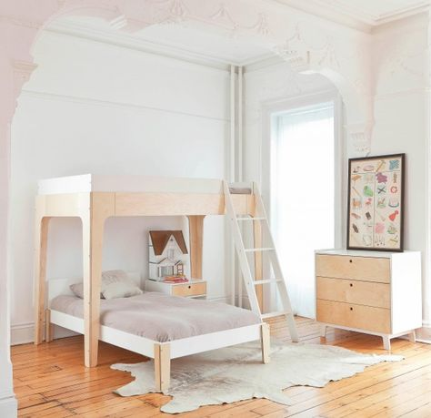 Oeuf bedroom on Milk magazine, with our Perch Bunk Bed and Classic Dresser!  #oeufnyc #bedroom #kidsroom #dresser #kids