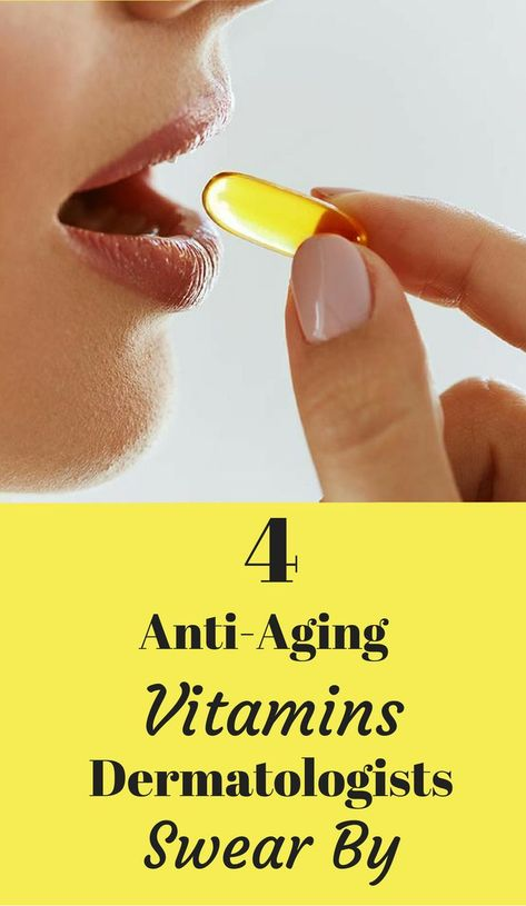 4 Anti-Aging Vitamins Dermatologists Swear By. #beauty #style #fashion #hair #makeup #skincare #nails #health #fitness #exercise