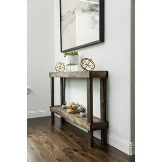 Rustic Luxe Large Wooden Sofa Table By Del Hutson Designs Unique Console Table Wooden Sofa Sofa End Tables