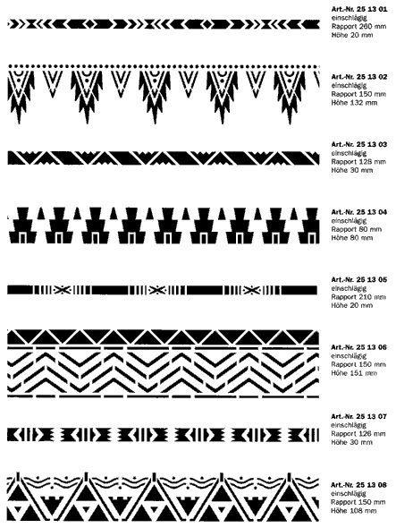 Ethno Schablonen Muster Maori Muster Indianer Muster Schablonen