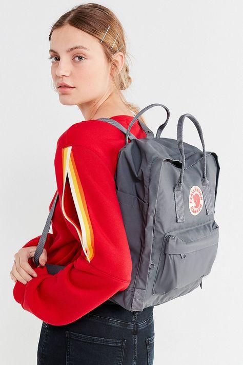 Urban Outfitters Fjallraven Kanken Backpack - Leaf Green + Orange One Size