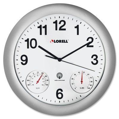 Lorell Wall Clock Wall Clock Analog Clock Silver Wall Clock