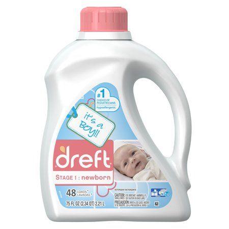 Dreft Stage 1 Newborn Liquid Laundry Detergent 48 Loads 75 Fl Oz