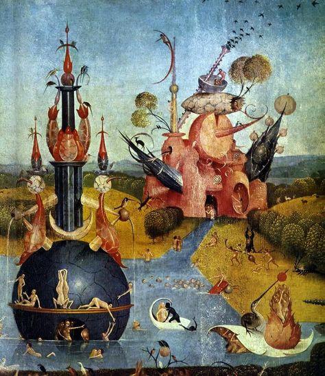 Bosch - Le Jardin des délices, panneau central : Le paradis d'Ecclesia - détail